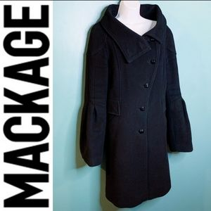 Mackage Wool, Cashmere, Leather Winter Coat